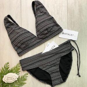 ATHLETA Jacquard Be Bold Bikini Swim Set NWT Small